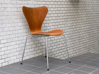 フリッツハンセン Fritz Hansen セブンチェア チーク材 アルネ ヤコブセン Arne Jacobsen 1967年製  ビンテージ 北欧 デンマーク ■