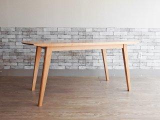 イデー IDEE アーク ARC ダイニングテーブル メープル無垢材 W160cm ナチュラルモダン 定価:\209,000- ●