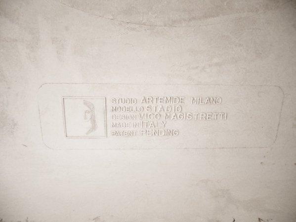 アルテミデ Artemide スタジオ STADIO ダイニングテーブル ホワイト ヴィコ マジストレティ Vico Magistretti ビンテージ ●