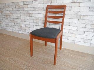 朝日木材 ボスコ BOSCO ダイニングチェア Dining Chair ブラックファブリック クラフト家具 ●