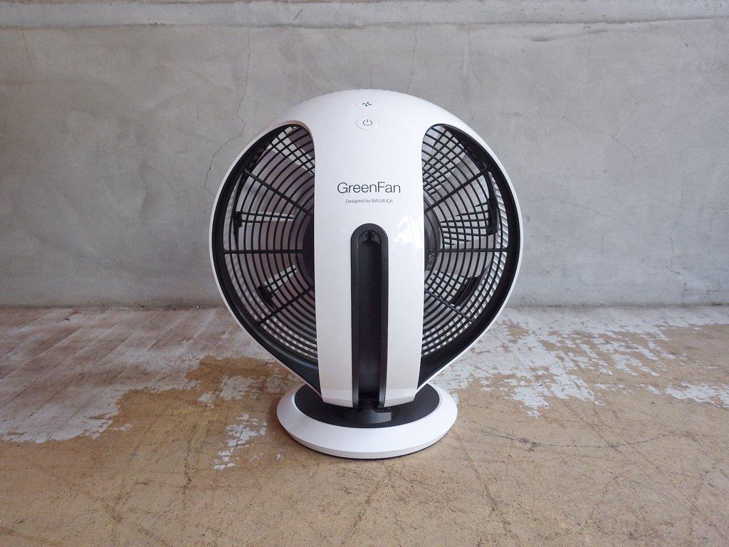 バルミューダ BALMUDA グリーンファン サーキュ GreenFanCirq サーキュレーター ホワイト×ブラック EGF-3300 リモコン付き 2018年製 ♪