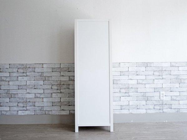 モモナチュラル Momo Natural シエルライン CIELE LINE ツードア 2 DOOR スリムガラスキャビネット 食器棚 飾り棚 パイン材 ホワイト 定価¥46,750- ●
