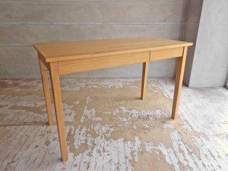 無印良品 MUJI 木製デスク オーク材  W110 引出し付 パーソナルデスク ワークテーブル ナチュラル シンプル 定価:24,900円 ♪