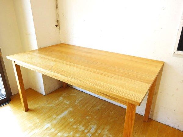 無印良品 MUJI タモ材 無垢集成材 ダイニングテーブル Dining シンプル ナチュラル 幅140cm 廃盤 ★