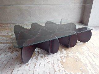 イーアンドワイ E&Y マトリックステーブル MATRIX TABLE ダークブラウン Lサイズ プライウッド リビングテーブル 定価:93,500円 ♪