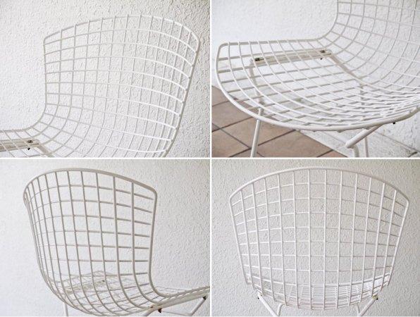 ノル Knoll 420 サイドチェア 420 Side chair ワイヤーチェア ホワイト ハリー・ベルトイア ミッドセンチュリー 名作椅子 定価¥107,800- ◇