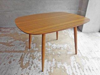 カリモク60+ karimoku Dテーブル ダイニングテーブル カフェテーブル ウォールナットカラー デコラトップ メラミン天板 ミッドセンチュリー 定価:\66,220- ♪