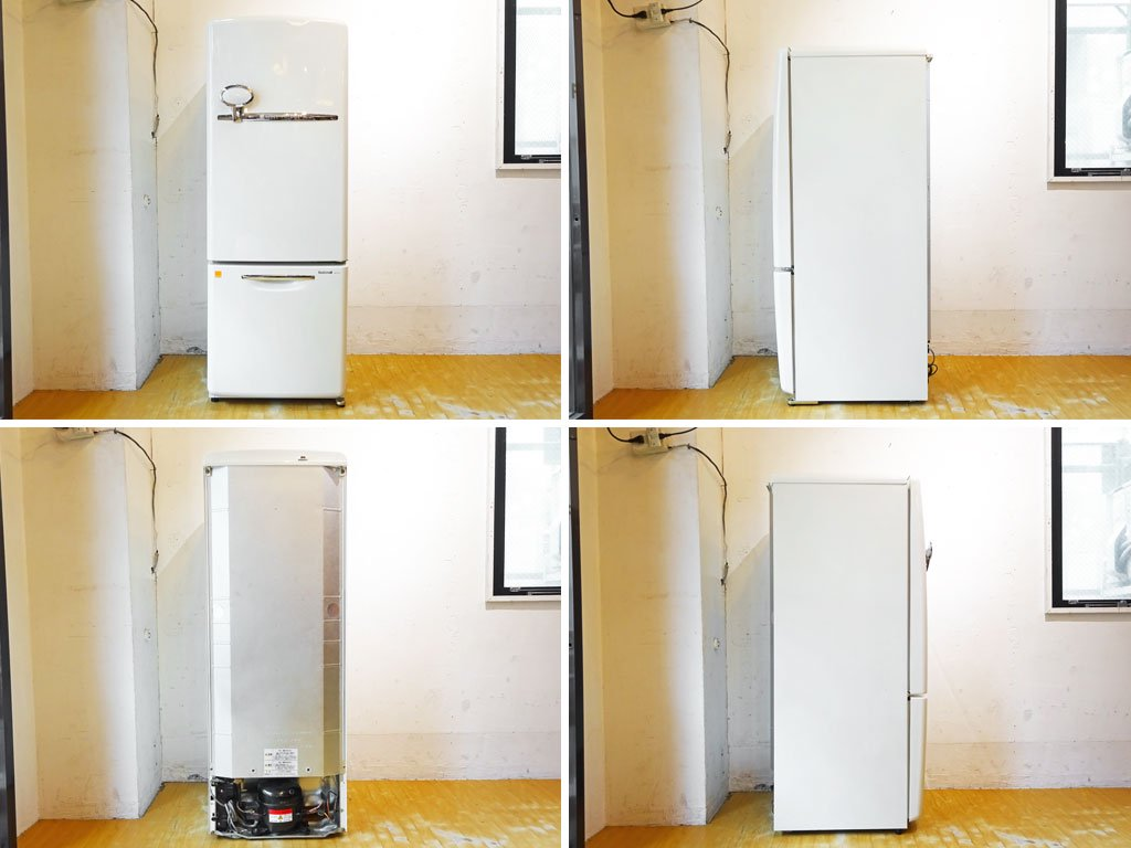 ナショナル National ウィル WiLL FRIDGE mini パーソナルノンフロン冷凍冷蔵庫 ホワイト 廃盤 2003年製 162L ノスタルジックデザイン ★