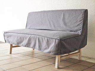 ウニコ unico マノア MANOA ベンチ バックレスト Bench backrest 幅120cm カバーリング ソファタイプ 2シーター 定価¥71,500- ◇