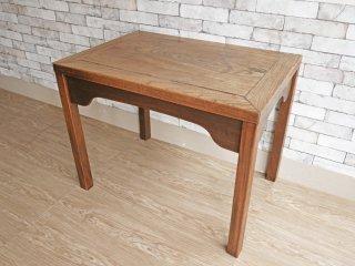 ビンテージ Vintage 木味のデスク ワーキングテーブル 作業台 W63cm ●