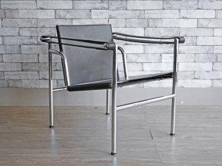 ル・コルビュジェ Le Corbusier LC1 スリングチェア ブラックレザー リプロダクト品 B ●