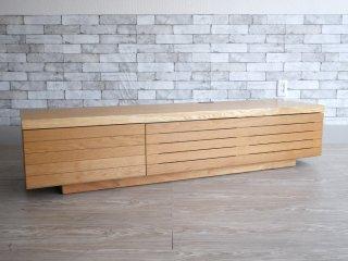 ブランチ BRUNCH オーダーメイド 格子 TVボード AVボード ホワイトオーク材 プッシュドア式 ナチュラル W160cm  定価:\181,060- SISO DENMARK ●