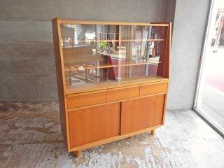 ウニコ unico アルベロ ALBERO カップボード 食器棚 チーク材 北欧ビンテージスタイル 廃盤希少 ♪