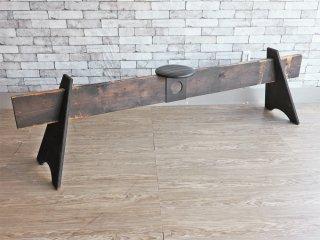 エムアンドエム ファニチャー M&M Furniture 3ピースベンチ 3 piece bench インダストリアル W210cm ●