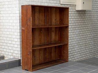 ジャパンビンテージ Japan Vintage 木味 ブックシェルフ 本棚 飾り棚 食器棚 古家具 ■