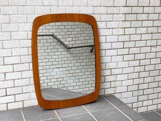 北欧 ビンテージ Scandinavian Vintage チーク材 ウォールミラー 壁掛け 鏡 ■
