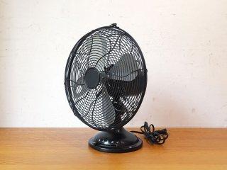 ハモサ HERMOSA レトロファンテーブル Retro Fan Table ブラック ハンマートン塗装 扇風機 インダストリアル 2016年製 ★
