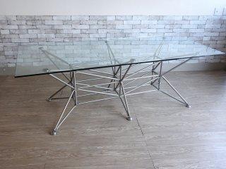 システムワンエイティー System180 ルナーテーブル L ダイニングテーブル モジュラーシステム ミーティングテーブル ドイツ製 ガラス天板 W2150 定価¥407,000- ●