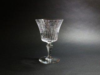 バカラ Baccarat パルメ ワイングラス カットグラス エッチング 鳥紋様 クリスタルガラス フランス 定価¥33,000- B ◎