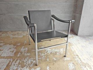ル・コルビュジェ Le Corbusier LC1 スリングチェア ブラックレザー IDC大塚家具購入 リプロダクト品 ♪