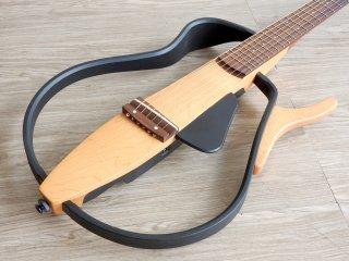 ヤマハ YAMAHA サイレントギター SLG-100S エレアコ ギグバッグ&付属品一式付き ●