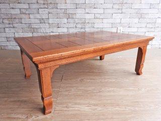 ブルーミングデールズ Bloomingdale's ローテーブル センターテーブル オーク材 イタリア製 ●