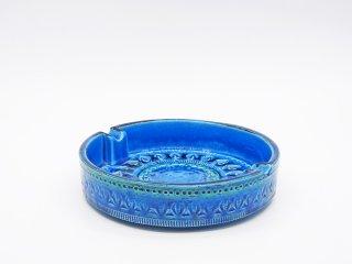 フラヴィア FLAVIA Italy ビトッシ BITOSSI リミニブルー アッシュトレイ 灰皿 Φ20cm 陶器 イタリア ●