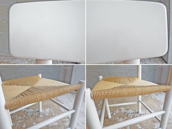 フレデリシア FREDERICIA J39 シェーカーチェア ピープルズチェア オーク材 ホワイトラッカー仕上げ ナチュラルペーパーコード ボーエ・モーエンセン 北欧家具 定価¥126,500-♪