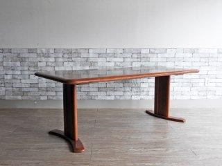 カリモク Karimoku ダイニングテーブル DT6030 2本脚 W180cm 無垢集成材 ●