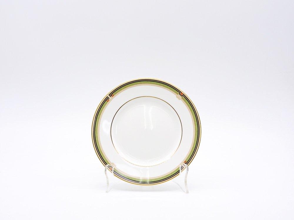 ウェッジウッド WEDGWOOD オベロン oberon 白磁プレート 15cm パン皿 旧刻印 ボーンチャイナ BONE CHINA 廃番品 英国 F ♪
