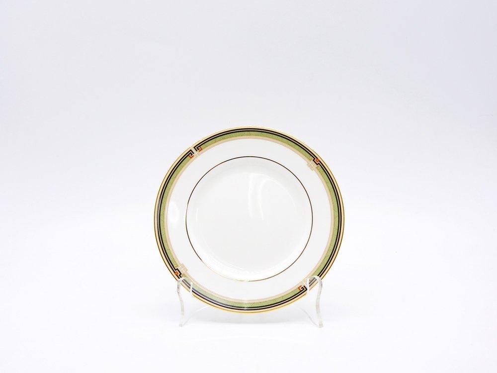 ウェッジウッド WEDGWOOD オベロン oberon 白磁プレート 15cm パン皿 旧刻印 ボーンチャイナ BONE CHINA 廃番品 英国 H ♪