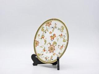 ウェッジウッド WEDGWOOD オベロン oberon 白磁プレート 20cm デザート皿 旧刻印 ボーンチャイナ BONE CHINA 廃番品 英国 A ●