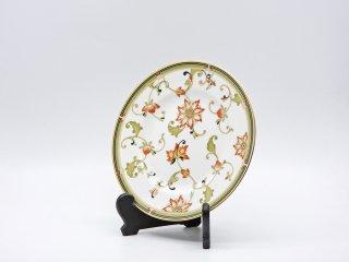 ウェッジウッド WEDGWOOD オベロン oberon 白磁プレート 20cm デザート皿 旧刻印 ボーンチャイナ BONE CHINA 廃番品 英国 E ●