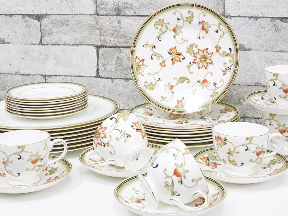 ウェッジウッド WEDGWOOD オベロン oberon 白磁プレート 20cm デザート皿 旧刻印 ボーンチャイナ BONE CHINA 廃番品 英国 H ●