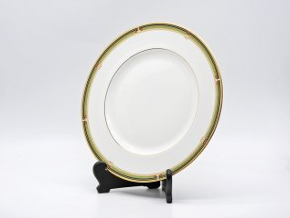 ウェッジウッド WEDGWOOD オベロン oberon 白磁プレート 27cm ディナー皿 大皿 旧刻印 ボーンチャイナ BONE CHINA 廃番品 英国 G ♪