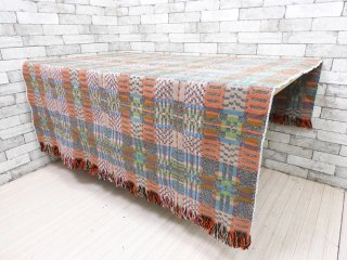 シェリダンコークリープロダクツ SCP クロヴィエ crovie マルチカバー ドナ・ウィルソン Donna Willson デザイン ウール100% 幾何学模様 イングランド製 C ●