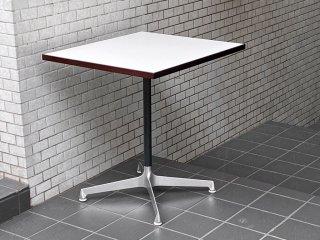 天童木工 Tendo カフェテーブル ホワイト メラミントップ Xレッグ ジャパニーズミッドセンチュリーデザイン ■