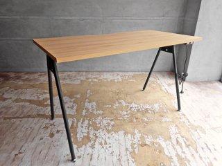 ジャーナルスタンダードファニチャー journal standard Furniture コンパスレッグデスク W120 ナチュラル コンセント付き ASKUL取扱 定価¥16,390- ♪