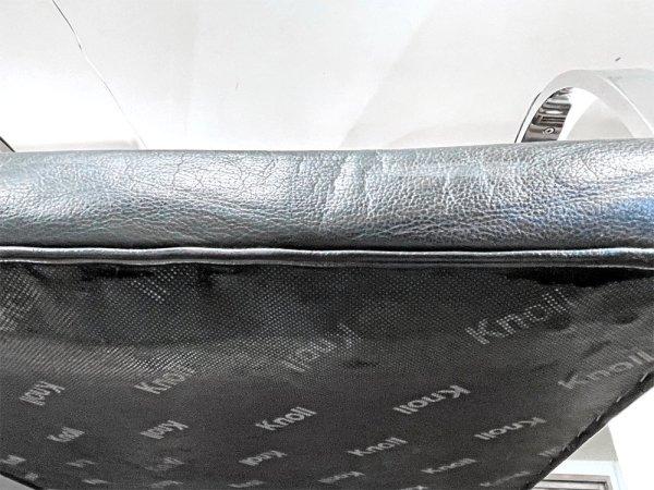 ノル Knoll ブルーノ brno フラットバー アームチェア カンティレバーチェア 革張り アームパッド付き ミース・ファン・デル・ローエ 定価:\381,700- 現状品 ●