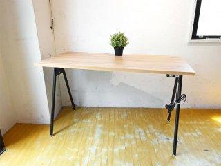 ジャーナルスタンダードファニチャー journal standard Furniture コンパスレッグデスク W120 ナチュラル コンセント付 ASKUL取扱 定価¥16,390- ★
