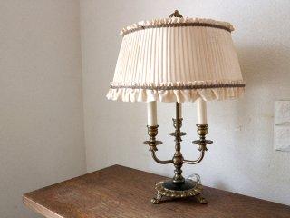 フランスアンティーク French Antique テーブルランプ 3灯 シャンデリア球 ロウソク型 クラシカル ◎