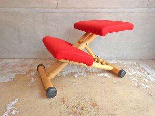 ストッケ STOKKE マルチバランス MALTI balans バランスチェア 学習椅子 レッド 北欧 ノルウェー ♪