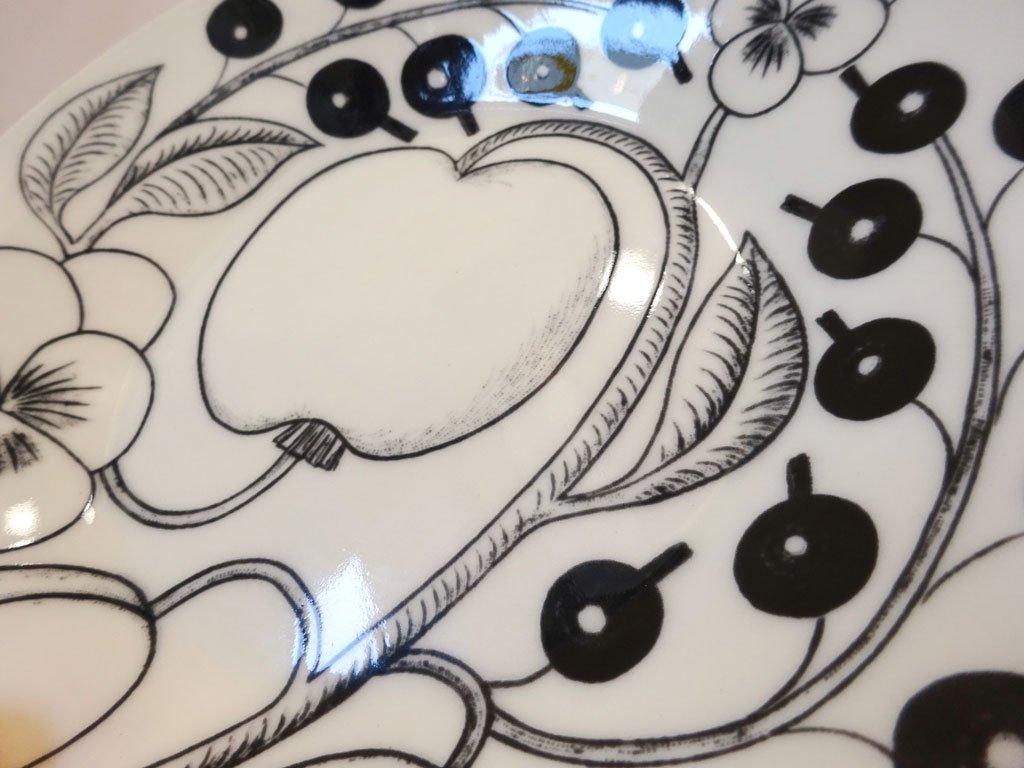 アラビア ARABIA パラティッシ paratiisi ブラック ケーキプレート ソーサー 16.5cm ★