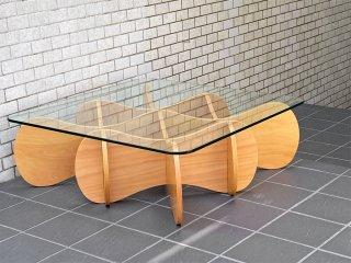 イーアンドワイ E&Y マトリックステーブル MATRIX TABLE ナチュラル Sサイズ プライウッド リビングテーブル ■