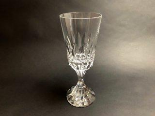 バカラ Baccarat アサス  D'Assas ウォーターゴブレット ワイングラス カットグラス クリスタルガラス フランス 希少廃番 A ◎