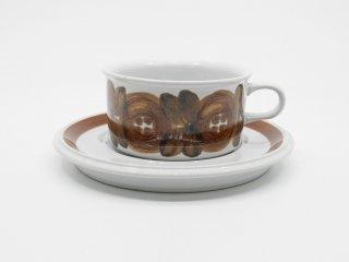 アラビア ARABIA ロスマリン Rosmarin カップ & ソーサー ウラ・プロコッペ Ulla Procope 北欧食器 ビンテージ B ●