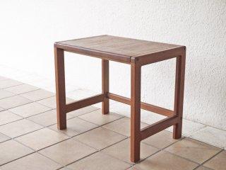 ビンテージ vintage チーク無垢材 サイドテーブル ネストテーブル 北欧デザイン ◇