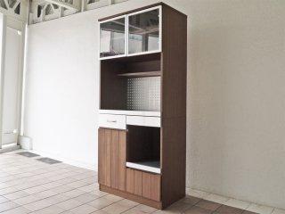 ウニコ unico ストラーダ STRADA キッチンボード レンジボード 食器棚 アッシュ材 W80cm オープンタイプ 廃番品 ◇