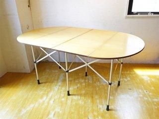 スノーピーク snow peak フォールディング テーブル オーバル 折畳テーブル 廃盤 シナ材合板天板 アルミ ★