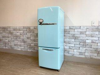 ナショナル National ウィル WiLL FRIDGE mini パーソナルノンフロン冷凍冷蔵庫 フリッジミニ ターコイズ 廃番 2003年製 162L オリジナル ノスタルジックデザイン ●